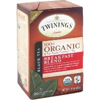 Twinings Organic and Fair Trade Certified Breakfast Blend Tea Bags, 40 Count by Twinings