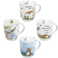 Konitz Mugs Guess How Much I Love you Collection Mugs, Set of 4 by Konitz