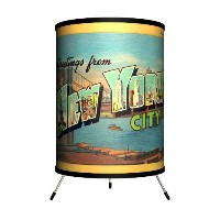 Lamp-In-A-Box TRI-TRV-NYCIT Travel - New York City Postcard Tripod Lamp by Lamp-In-A-Box