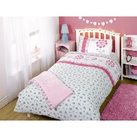 Pippa Flowers Single Duvet Cover and Pillowcase Set by Rapport