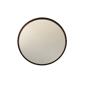 KATOMOKU Plywood wall mirror km-48LB Φ304mm ブラウン 壁掛け鏡
