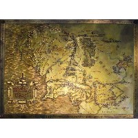 The Hobbit Lord Of The Rings Map of Middle Earth (69cm x 49,5cm)