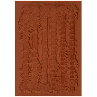 "Deep Red Cling Stamp 4""X3""-Music Flourish (並行輸入品)"