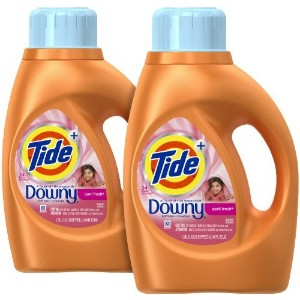 Tide Plus a touch of Downy Liquid Laundry Detergent - 46 oz - April Fresh - 2 pk by Tide