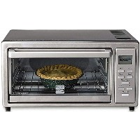 Kenmore 4 slice Digital Toaster Oven with 9 Ceramic Pizza Stone - Stainless Steel by Kenmore