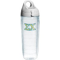 Tervis Sigma Chi Fraternity Water Bottle with Lid, 24 oz, Clear by Tervis