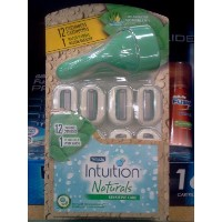 Schick Intuition Naturals Sensitive Care with aloe, 12 Cartridges + 1 Razor Handle by Schick