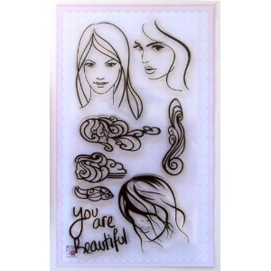 あなたは美しいです ~ クリアスタンプ (9x18cm) // You Are Beautiful ~ Clear stamps pack (9x18cm) FLONZ