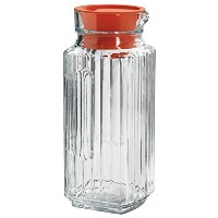 Anchor Hocking Bistro Glass Pitcher with Tangerine Stopper, 1 Quart by Anchor Hocking