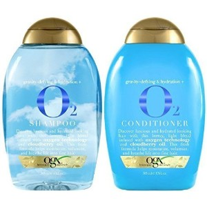Ogx ~ O2 Shampoo and Conditiooner Set. 13oz~ Oxygen Technology / Cloudberry Oil /for Fine Hair ~...