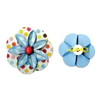 "Sizzix Sizzlits Decorative Strip Die 12.625""X2.375""-Flower, Folded (並行輸入品)"