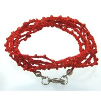 【iluck】Wrap cord bead BRESS GAN RED RED [ジュエリー]