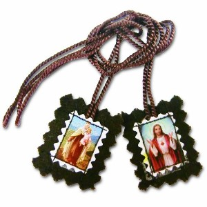 The Scaplar of Our Lady of Mount Carmel - Brown Wool -