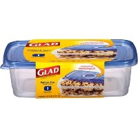 Glad Containers, Potluck Size, Extra Large Rectangle, 10 cups by Glad