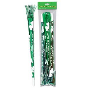 Beistle 33608 3-Pack Packaged St. Patrick Tasseled Trumpets, 25-Inch by Beistle