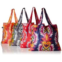 LOQI Opulent Collection Pouch Reusable Bags (Set of 4), Multicolor by LOQI