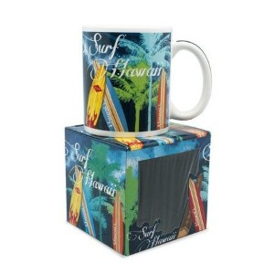 10 oz. Island Treasures Mug, Surf Hawaii by Welcome to the Islands