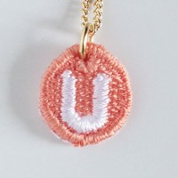 Embroidery Necklace コトダマ U