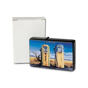 G. Huber Pocket Vintage Windproof lighter ライター Brushed Oil Refillable U.S. gas station