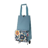 Reisenthel FoldableTrolley, Foldable Trolley for Shopping, baroque taupe, HK7027 flower by...