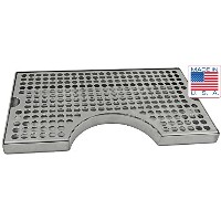 Draft Warehouse Stainless Steel Drip Tray with Cut Out, 12-Inch by 7-Inch by Draft Warehouse