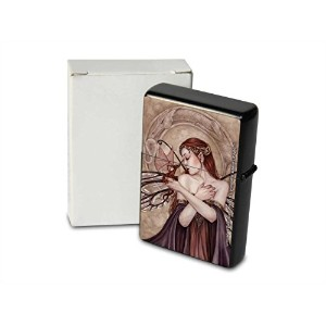 S. Fenech Pocket Vintage Windproof lighter ライター Brushed Oil Refillable Fairy Dragon Pup