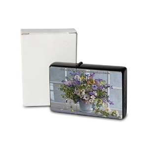 L. S?ren Pocket Vintage Windproof lighter ライター Brushed Oil Refillable Daisy lavender