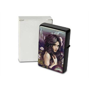 S. Fenech Pocket Vintage Windproof lighter ライター Brushed Oil Refillable flowers