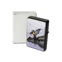 S. Fenech Pocket Vintage Windproof lighter ライター Brushed Oil Refillable Dragon Head Fairy