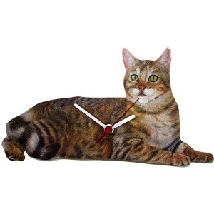Lark Rise Designs Wooden Clock(クロック)・時計 Cat LRC22