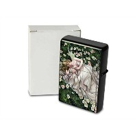 S. Fenech Pocket Vintage Windproof lighter ライター Brushed Oil Refillable Fairy baby flowers