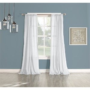 No. 918 Cory Sheer Curtain Panel, 50 by 95-Inch, White by No. 918 [並行輸入品]