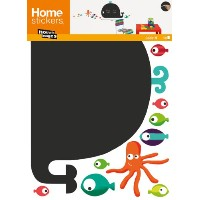 Nouvelles Images HOST1920 Whale and Octopus Chalkboard Wall Decals [並行輸入品]