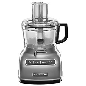 KitchenAid KFP0722CU 7-Cup Food Processor with Exact Slice System - Contour Silver by KitchenAid