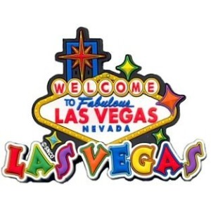 Las Vegas Magnet - White Rubber Sign, Las Vegas Magnets, Las Vegas Souvenirs by Great Places To You