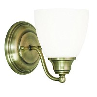 Livex Lighting 13671-01 Somerville 1 Light Wall Sconce, Antique Brass by Livex Lighting