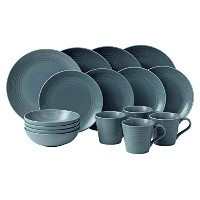 Royal Doulton Gordon Ramsay Maze 16-Piece Dinner Set, Grey by Royal Doulton