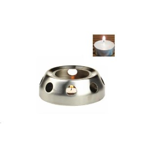 Candle Warmer Base with Tea Lite Candle forティーポット シルバー