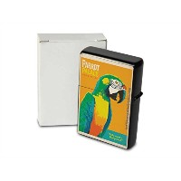 Petrol lighter ライター Printed parrot
