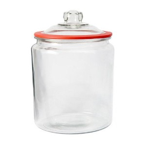 Anchor Hocking Heritage Hill Glass 2 Gallon Storage Jar with Red Silicone Gasket by Anchor Hocking