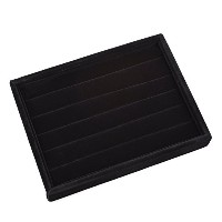 KLOUD CityBlack Velvet 5 Rows Ring Organizer Display Case/Ring Trays/Showcase by KLOUD City