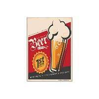 冷蔵庫用マグネット Fridge Magnet Bar Party Beer award
