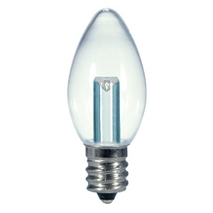 Satco S9156 LED C7 Clear 2700K Candelabra Base Light Bulb, 0.5W by Satco