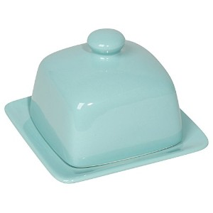 Now Designs Square Butter Dish, Eggshell by Now Designs