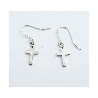 jennifer zouner jewelry(ジェニファーズーナーUSA) Mini Cross Hanging(SILVER) ピアス E05S je...