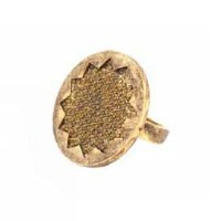 House of Harlow 1960 (ハウスオブハーロウ1960) Medium Sunburst Pave Ring with Gold Pave サイズUS8