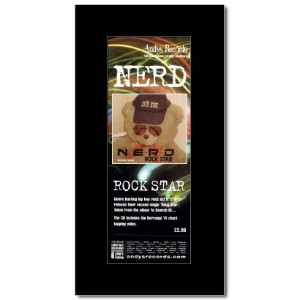 NERD - Rock Star Mini Poster - 28.5x10cm