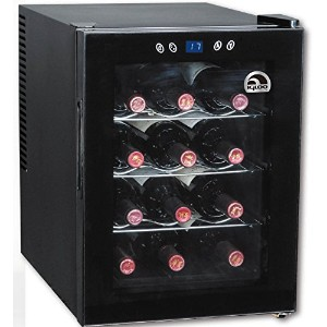 Igloo FRW133 12-Bottle Wine Cooler with Digital Temperature Display, Black by Igloo