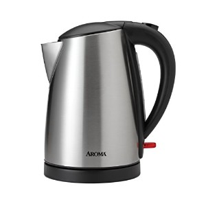 Aroma Housewares AWK-1400SB 7 Cup Stainless Steel Electric Kettle, 1.7 L, Silver by Aroma Housewares