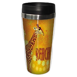 Tree-Free Greetings 25551 Angi and Silas Giraffe Reach Sip 'N Go Stainless Lined Travel Mug, 16-Ounce by Tree-Free Greetings